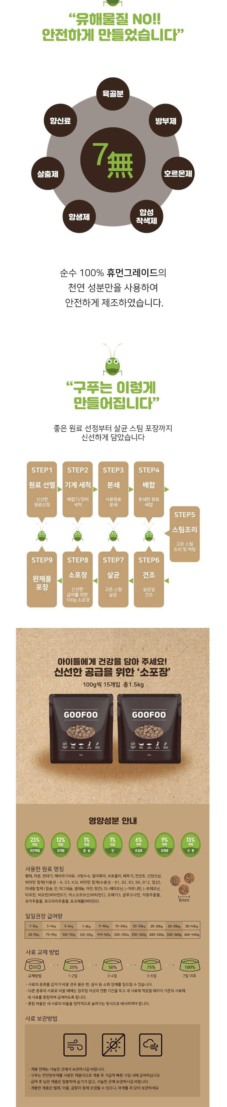 [오구오구특가]구푸 단백질사료 1.5kg (2개세트)-상품이미지-2